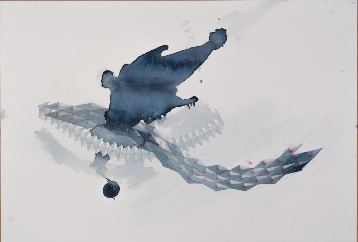 ink cloud following a clash